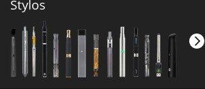 Bannière sidebar vaporisateurs stylos